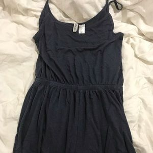 Navy Blue H&M Heather Romper with Spaghetti Straps